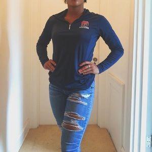 Blue Quarterzip Pullover